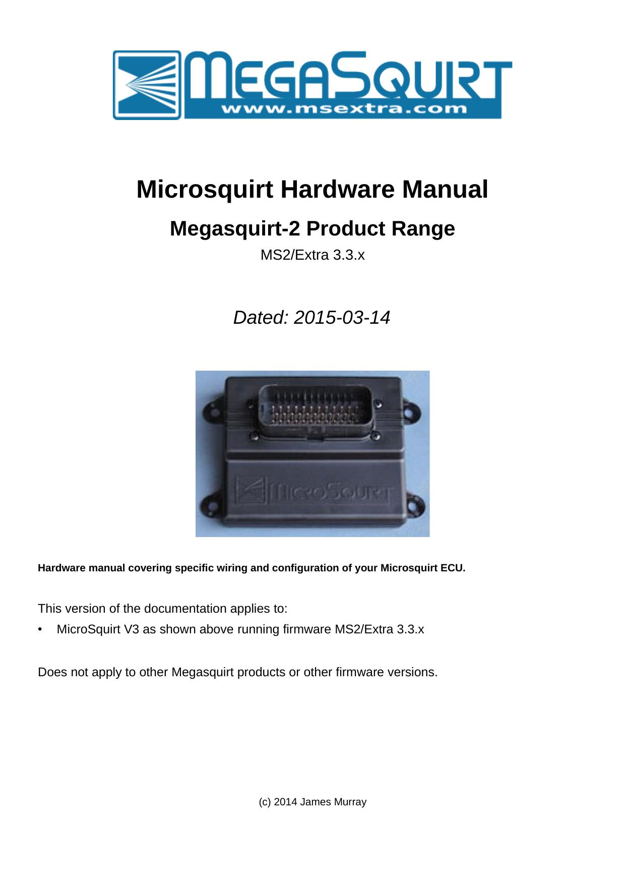 Microsquirt Hardware Manual