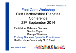 Optimising diabetic foot care - East and North Herts NHS Trust