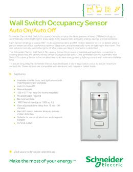 Schneider electric occupancy sensor range wall switch occupancy sensor sciox Gallery