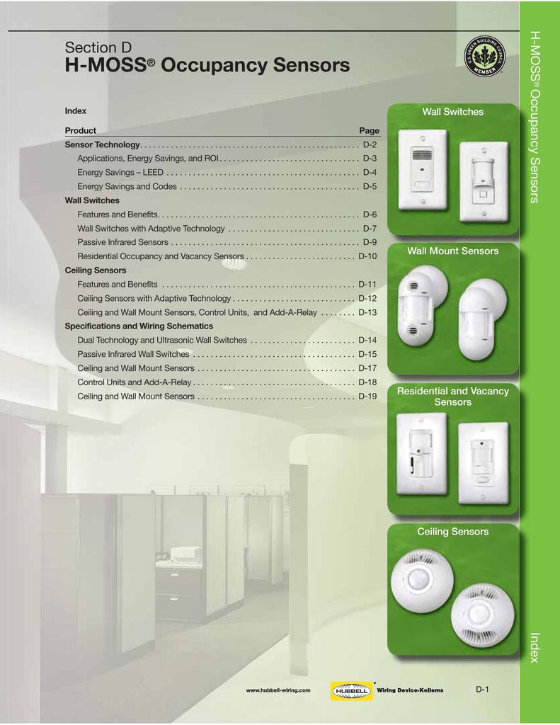 H-MOSS® Occupancy Sensors on