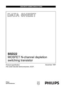 MOSFET N-channel depletion switching transistor