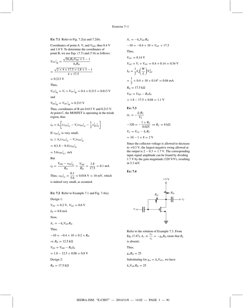 Chapter 7 Exercises And Problem Solution For The Circuit A Find Combinedresistance R B