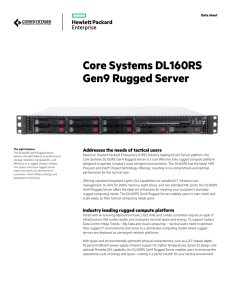 Core Systems DL160RS Gen9 Rugged Server (Data sheet)