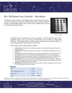 RLC-PB Remote Lane Controller Push Button