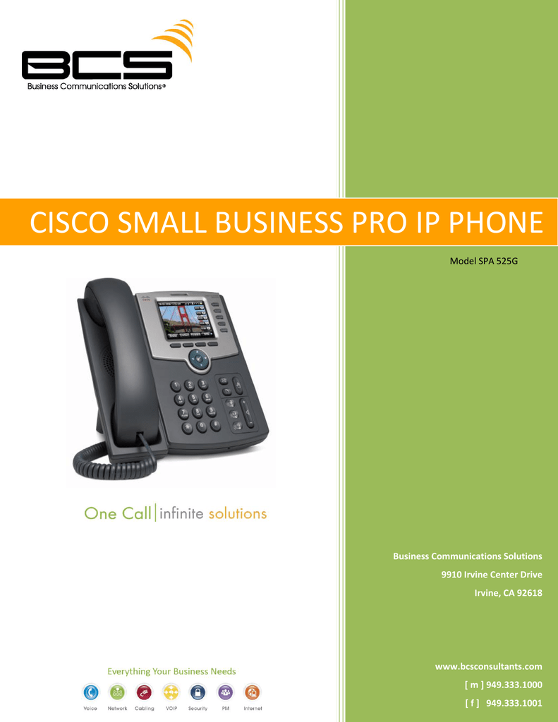 Cisco SPA 525G - BCS Consultants