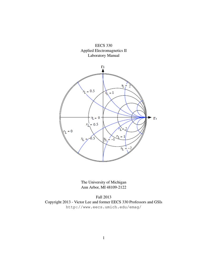 EECS 330 Applied Electromagnetics II Laboratory Manual The