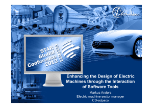 Enhancing the Design of Electric Machines through the - CD