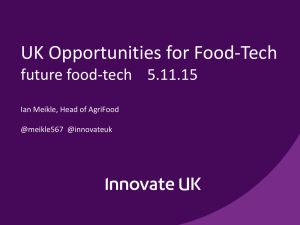UK Opportunities for Food-Tech - Future Food