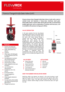 Flowrox Flanged Knife Gate Valve (LKF)