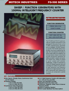 SWEEP / FUNCTION GENERATORS WITH 100MHz INTELLIGENT