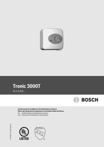 Tronic 3000T - Your Green Ability