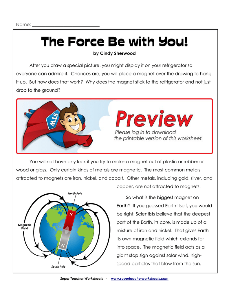 The Force Be with You! - Super Teacher Worksheets