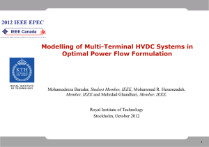 Modelling of Multi-Terminal HVDC Systems in Optimal Power Flow