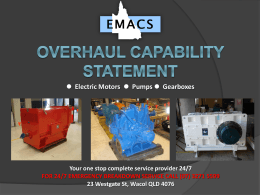 emacs capability statement - EMACS Electrical and Mechanical