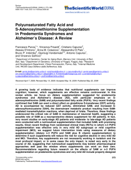 Polyunsaturated Fatty Acid and S