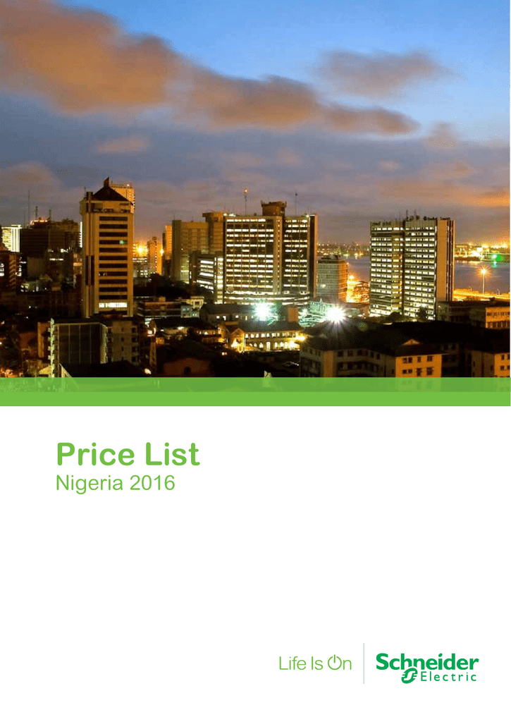 Price List - Schneider Electric is the Global Specialist in Energy