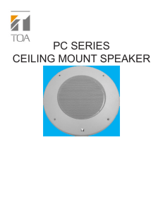 PC SERIES CEILING MOUNT SPEAKER