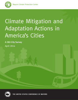 Climate Mitigation and Adaptation Actions in America`s Cities
