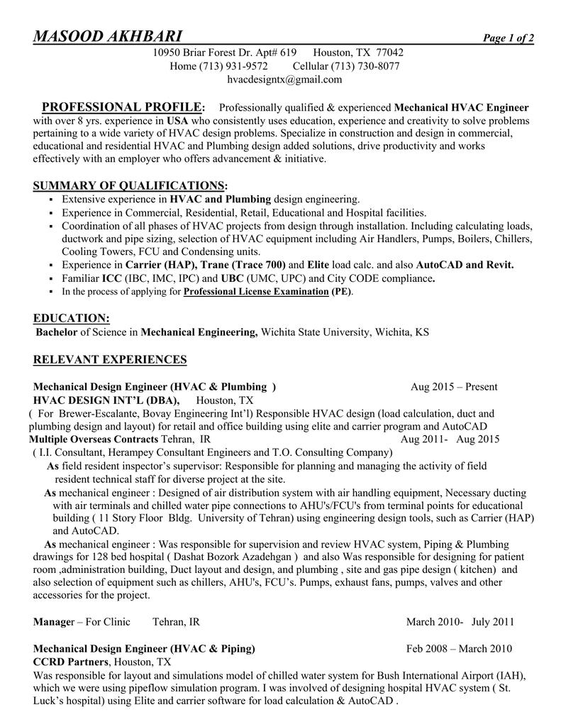 piping layout engineer resume resume masood akhbar  resume masood akhbar
