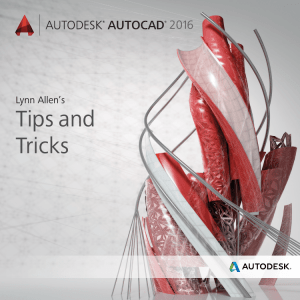 Tips and Tricks for AutoCAD 2016