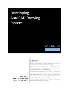 Developing AutoCAD Drawing System