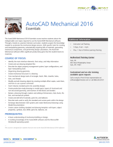 AutoCAD Mechanical Essentials - Print-O
