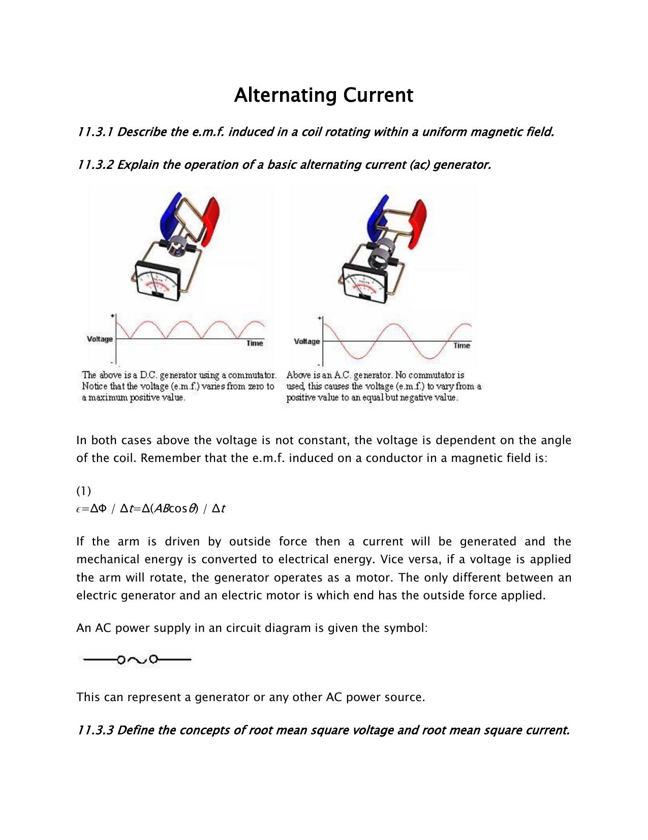 Alternating Current Ac Diagram 018805927 1 1e8ad57f00aad525400f175704e213ea