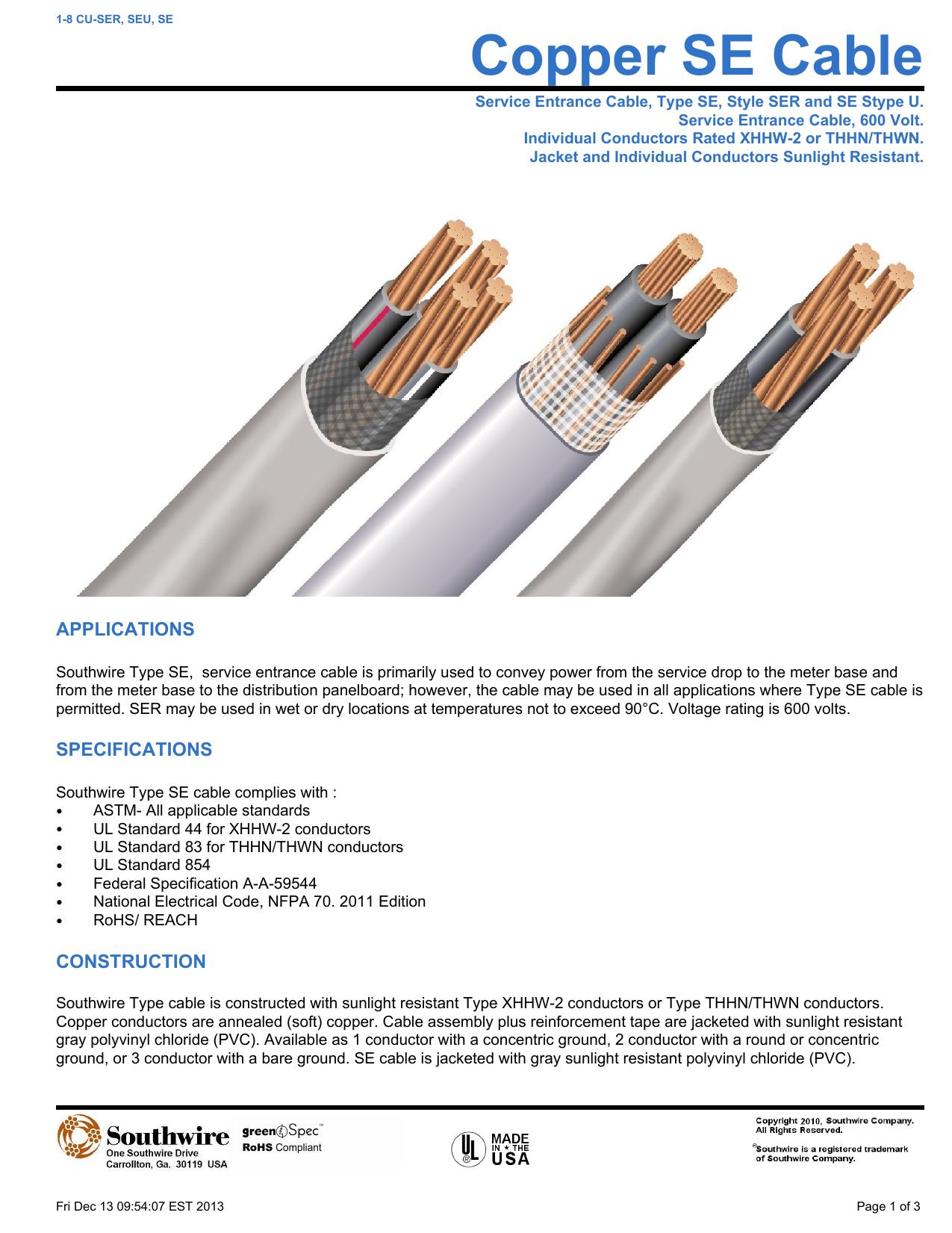 Copper Se Cable Electrical Wire Xhhw 018806612 1 95175ae6e25242e3eec58be47045b086