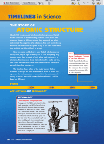 The Story of Atomic Structure