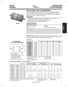 LIQUID LINE FILTER-DRIERS 96