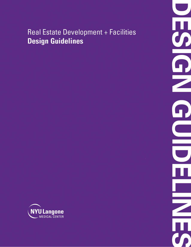 2016 Design Guidelines - NYU Langone Medical Center