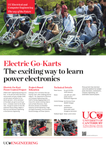 Electric Go-Karts The exciting way to learn power electronics