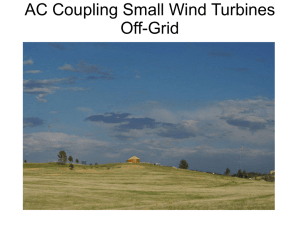 AC Coupling Small Wind Turbines Off-Grid