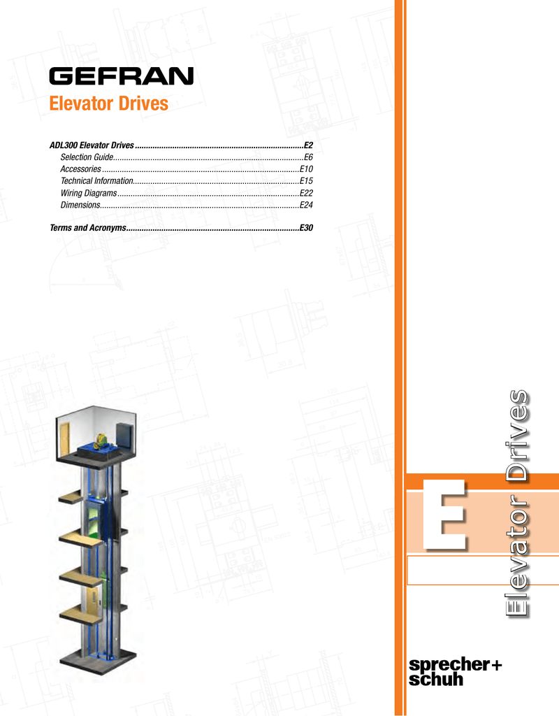 Adl300 Traction Elevator Drives E Catalog 2007 Mg F Tf Passenger Compartment Fuse Box Diagram