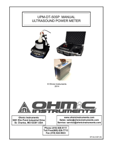 UPM-DT-50SP MANUAL ULTRASOUND POWER METER