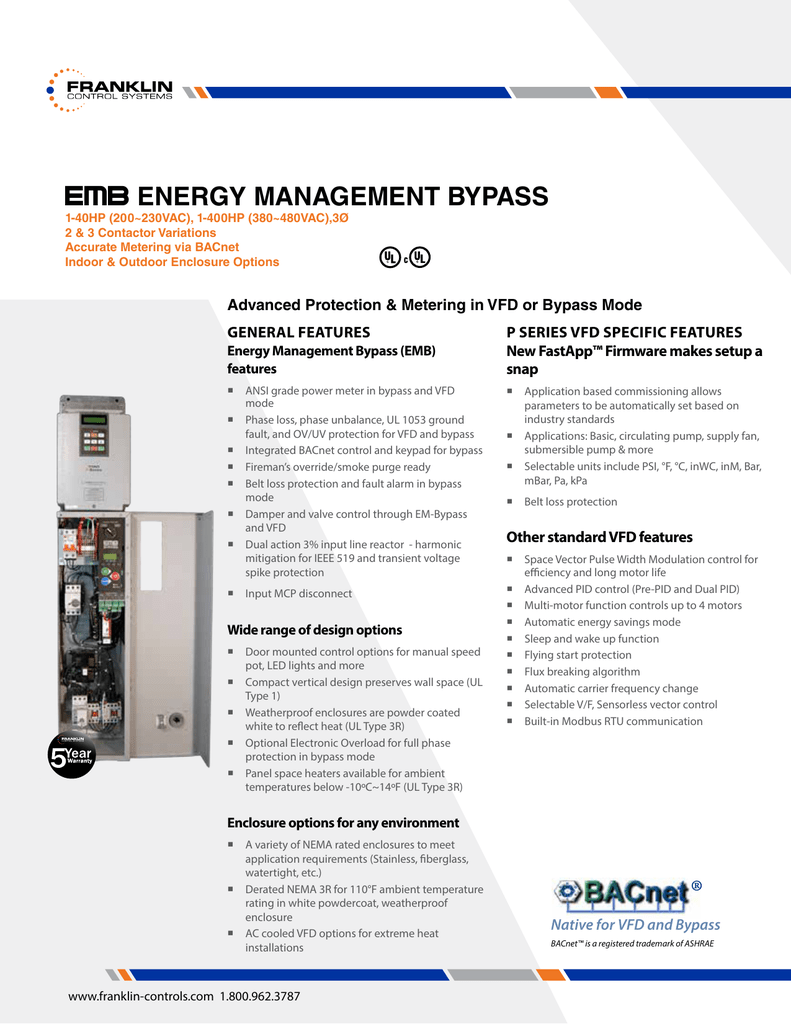 Datasheet Franklin Control Systems Emb Current Relay