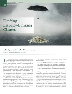 Drafting Liability-Limiting Clauses
