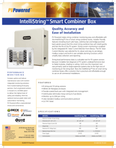 IntelliString™ Smart Combiner Box