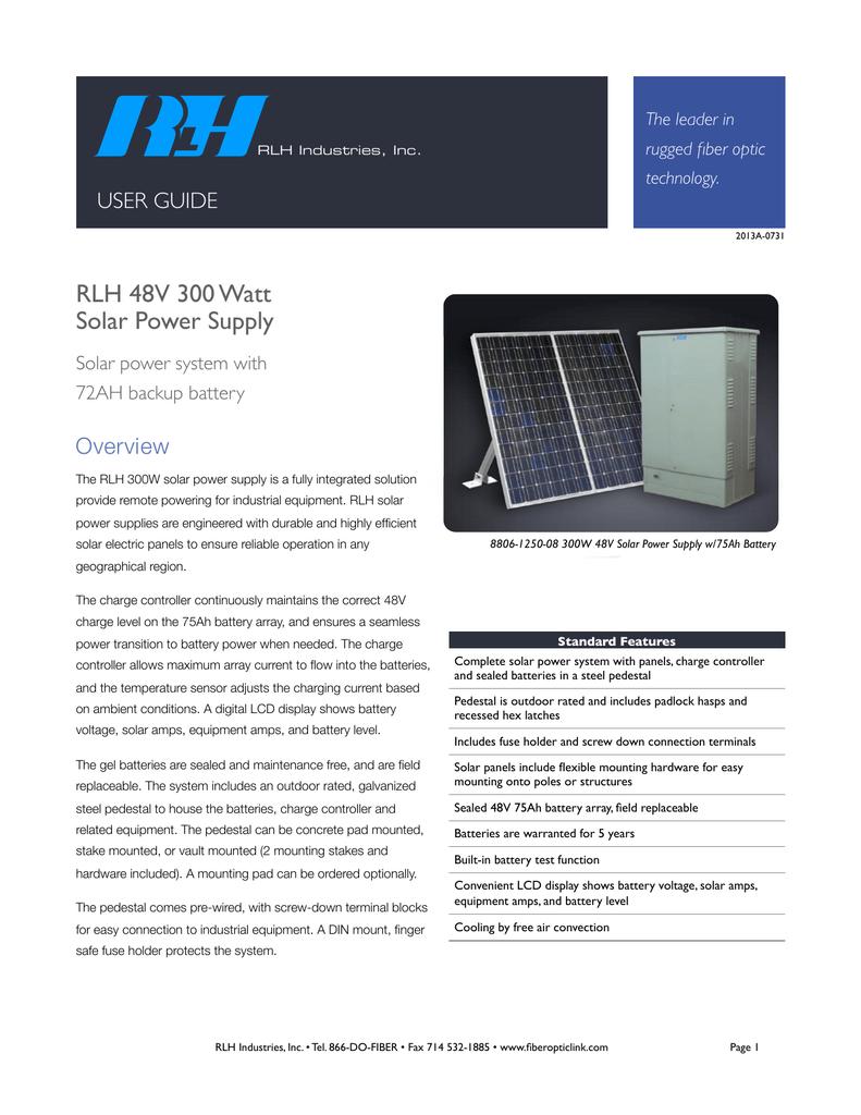 Solar Power Supply Rlh Industries Inc Yares Battery Terminal Fuse