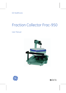 Fraction Collector Frac-950 - GE Healthcare Life Sciences