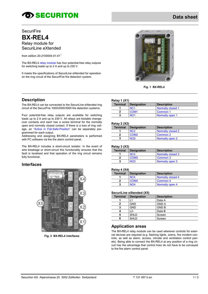 BXREL - Normally open normally closed common relay