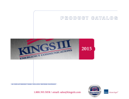product catalog - Kings III Emergency Communications