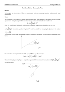 CIVE1400: Fluid Mechanics Rectangular Weir Lab First Year