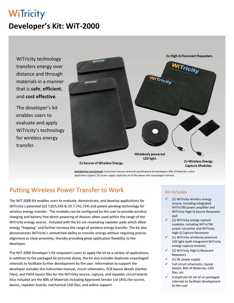 WiTricity WiT-2000 Developer`s Kit