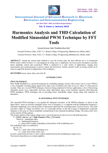 Harmonics Analysis and THD Calculation of Modified