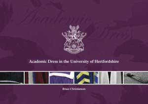 Academic Dress in the University of Hertfordshire