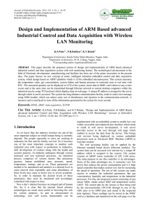 Design and Implementation of ARM Based advanced Industrial