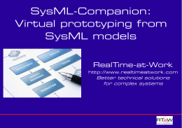 SysML-Companion: Virtual prototyping from SysML models