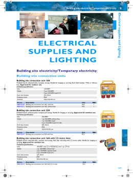 Chapter 07 Electrical supplies and lighting