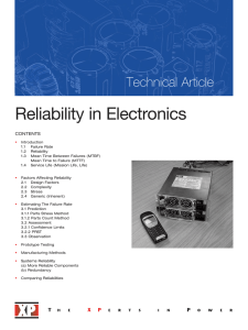 Reliability in Electronics